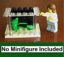 Custom Lego Small Frog Aquarium Animal Pet Shop Miniature Doll House Office Toad
