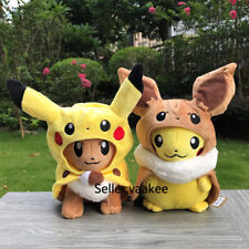 "2 Styles Cosplay Eevee Plush Cute Pika Stuffed Toy Cartoon Soft Doll Gift 11"""