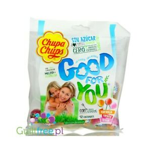 """2 x Pack of Chupa Chups """" Good For You """" Sugar Free Lollipops Pack of 12 ( 72g )"""