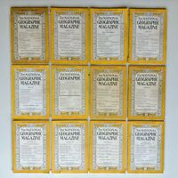 National Geographic Magazine 1945 Complete Set Full Decade Lot of 12 Issues