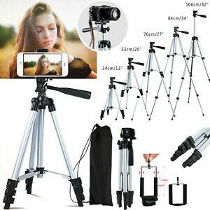 Portable Professional Adjustable Camera Tripod Stand Phone Mount Holder w/ Bag