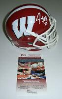 WISCONSIN Joe Thomas signed mini helmet RED JSA COA AUTO Autographed BADGERS