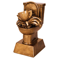 """Last Place Toilet 6"""" Trophy Award-Free Engraving"""