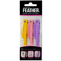Feather Flamingo Facial Touch-up Razor 3pcs (RFLS-P) NEW BOX [Free USA Shipping]
