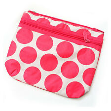 Thirty one mini purse bag 31 gift zipper pouch organizer Coral Mod Dot new e