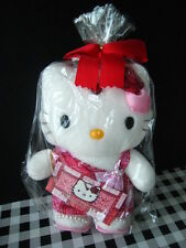 """Sanrio Japan Auth Hello Kitty India style red dress rose Doll Plush New rare 9"""""""