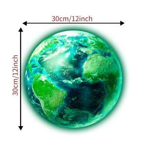 REMOVABLE PLANET EARTH GLOW IN DARK WALL STICKER DECAL BABY KIDS CHILDREN ROOM