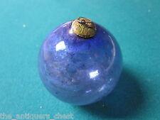Kugel France Antique Genuine Christmas ornament hand blown glass blue color