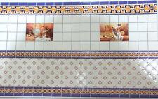 Papel carton pintado imitacion manisa cocina casita muñecas dollhouse 34328