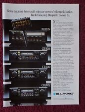 1982 Print Ad BLAUPUNKT Electronics Car Stereo ~ Berlin, CR-3001, CR-2010 +++