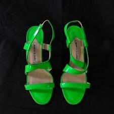 6ba8448adda7  MANOLO BLAHNIK  Sandales Stiletos Vert Fluo Cuir Verni