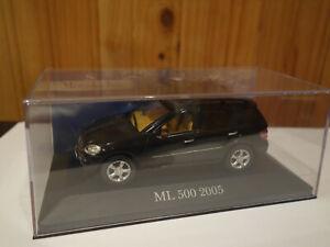 Mercedes BM164 M-classe ML 500 noir véhicule miniature IXO 1/43