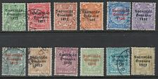 IRELAND: 1922 - Irish Free State  overprint set  1/2d-1/-  SG52-63 used