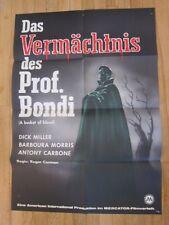 BUCKET OF BLOOD Original 1959 German poster horror Roger Corman Dick Miller