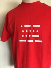 VTG 80s ~ HANES BEEFY-T W5VO GRAPHIC T SHIRT ~ Red ~ Soft ~ XL