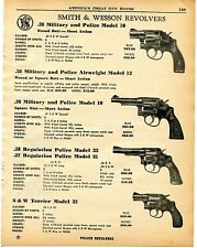 1960 Print Ad Smith & Wesson S&W 10 12 33 31 Military Police 32 Terrier Revolver