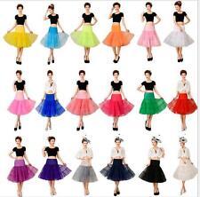 """Vintage Petticoat 26"""" Retro Underskirt 50s Swing Fancy Net Skirt Rockabilly Tutu"""
