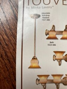 TWO MINKA LAVERY 1L  BRONZE MINI PENDANT, new never installed bronze/ gold tones
