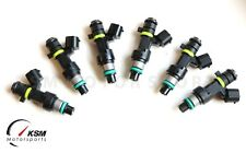 6 Genuine 650cc turbo fuel injectors 60lb direct Fit Nissan GTR R35 350Z G35 M35