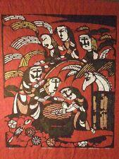 JAPANESE WOODBLOCK PRINT BY SADAO WATANABE CHRISTMAS  1967