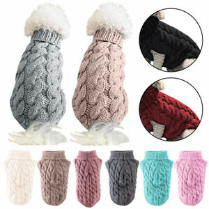 Winter Warm Dog Clothes Puppy Pet Cat Knitted Jumper Sweater Coat For Small Dogs