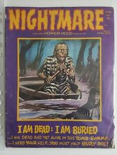 Nightmare #12 Comic 1973 SKYWALD HORROR MOOD Publication classic Artwork HTF
