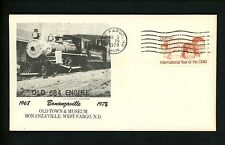 US Postal History Railroad Train Bonanzaville Town & Museum 1979 West Fargo ND
