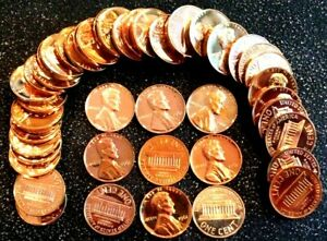 1 1961 Memorial Cent Red Gem Proof Roll (50 coins)