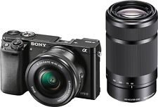 Sony - Alpha a6000 Mirrorless Camera Two Lens Kit with 16-50mm and 55-210mm Lens