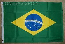 2'x3' Brazil Flag Outdoor Indoor Banner Brazilian Brasil Ordem Progresso New 2x3