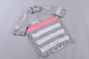 Rapha RCC Pro Team Jersey Men's Large Short Sleeve Silver/Pink Cycling Road