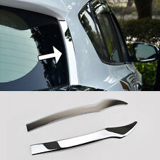 Fit For 13-17 Toyota RAV4 Chrome Rear Window Spoiler Side Wing Bevel Trim Cover