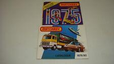 2-MATCHBOX COLLECTORS CATALOGUE 1975,1979/80,NICE LOOK-------