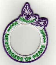"Messenger Of Peace Award Patch Ring, ""BSA2010"" Backing, Mint!"