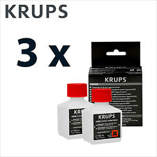 3 x Genuine Krups Coffee Espresso Cleaner Cleaning Liquid (4 x 100ml) - XS9000