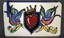 """BRIGHTON """"Love of Art"""" 2019 Canvas Small Zippered Pouch/Cosmetic Bag NEW"""