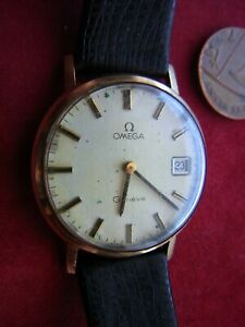 A VINTAGE OMEGA GENEVE GENTLEMAN'S WRISTWATCH. SPARES or REPAIR