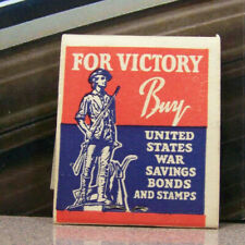 Vintage Matchbook G4 Circa 1940 V Victory United States War Bonds Stamps Savings