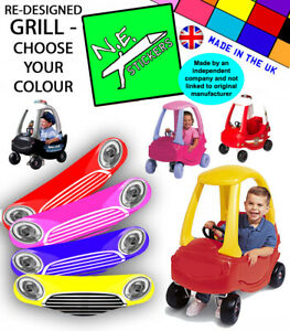 Grille Replacement sticker TO FIT Little Tikes Cozy Coupe II 2 Car ( no eyes )