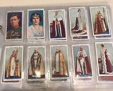 Rare Royal Coronation Series Ceremonial Dress Tobacco Cards Complete Set Of 50