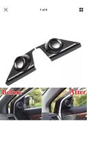 For Honda CRV 17 Carbon Fiber Color Front Door Loud Stereo Speaker Cover Trim