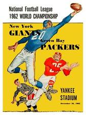 Green Bay Packers vs NY Giants **LARGE POSTER** 1962 Football NFL CHAMPIONSHIP