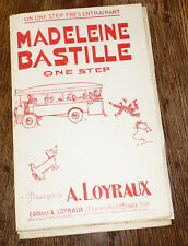 Madeleine Bastille one-step orchestre dancing piano conducteur 1935 A. Loyraux