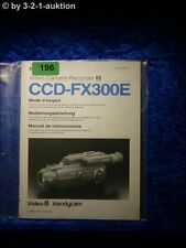 Sony Bedienungsanleitung CCD FX300E Video 8 Camera Recorder (#0196)