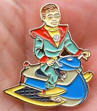 FIREBALL XL5 CLASSIC STEVE ZODIAC SPACE HOVER SCOOTER ENAMEL PIN BADGE