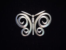 "Pewter Swirl Butterfly Pin ""Jj"" Jonette Jewelry Silver"