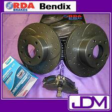 SLOTTED and DIMPLED Front Brake Disc Rotors & BENDIX Pad FORD to fit AU Series I