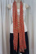 "American Rag Scarf Sz OS Multi Color Red Stripe ""Gwen"" Chic Casual Sheer Scarf"