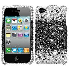 Black Universe Crystal Diamond BLING Hard Case Phone Cover for Apple iPhone 4 4s