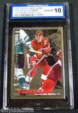 95/96 Collector's Choice STEVE YZERMAN Platinum Players Club #266 ISA 10 BV$100